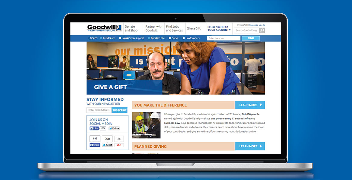 Goodwill.org Redesign